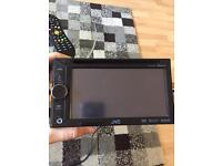 JVC double din touch screen car player