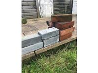 BRICKS WOOD CHAIRS TABLE ALL FREE IF COLLECTED