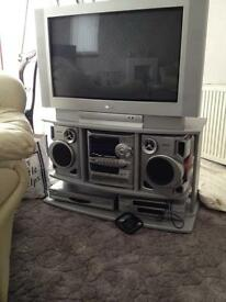 Tv, video , DVD and stereo system