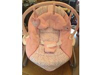 Pink baby chair rocker seat