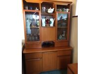 Teak sideboard/display cabinet