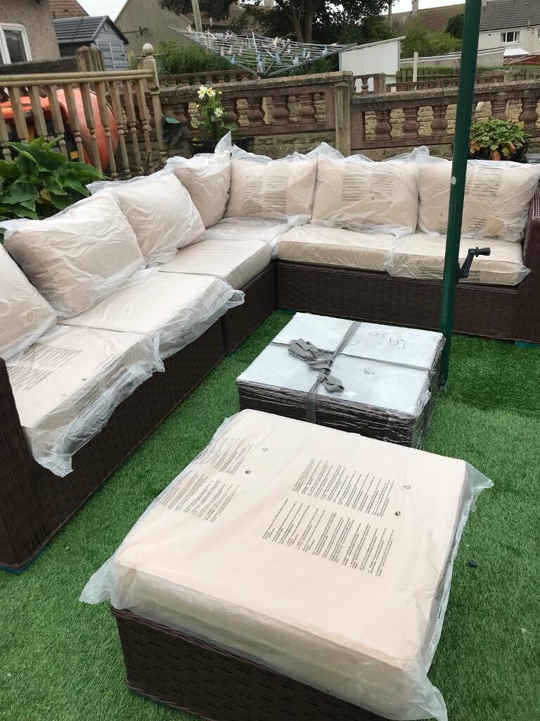 conservatory outdoor rattan garden furniture sets yakoe papaver delivery available - Garden Furniture Glasgow