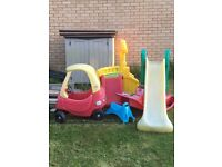 Outdoor Toys Collections - Slide, coupe Car, See-saw,