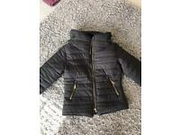 Designer black coat size small