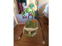 Fisher Price Rainforest cradle swing, £40 ONO