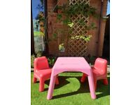*** ELC PLASTIC TABLE & CHAIRS ***
