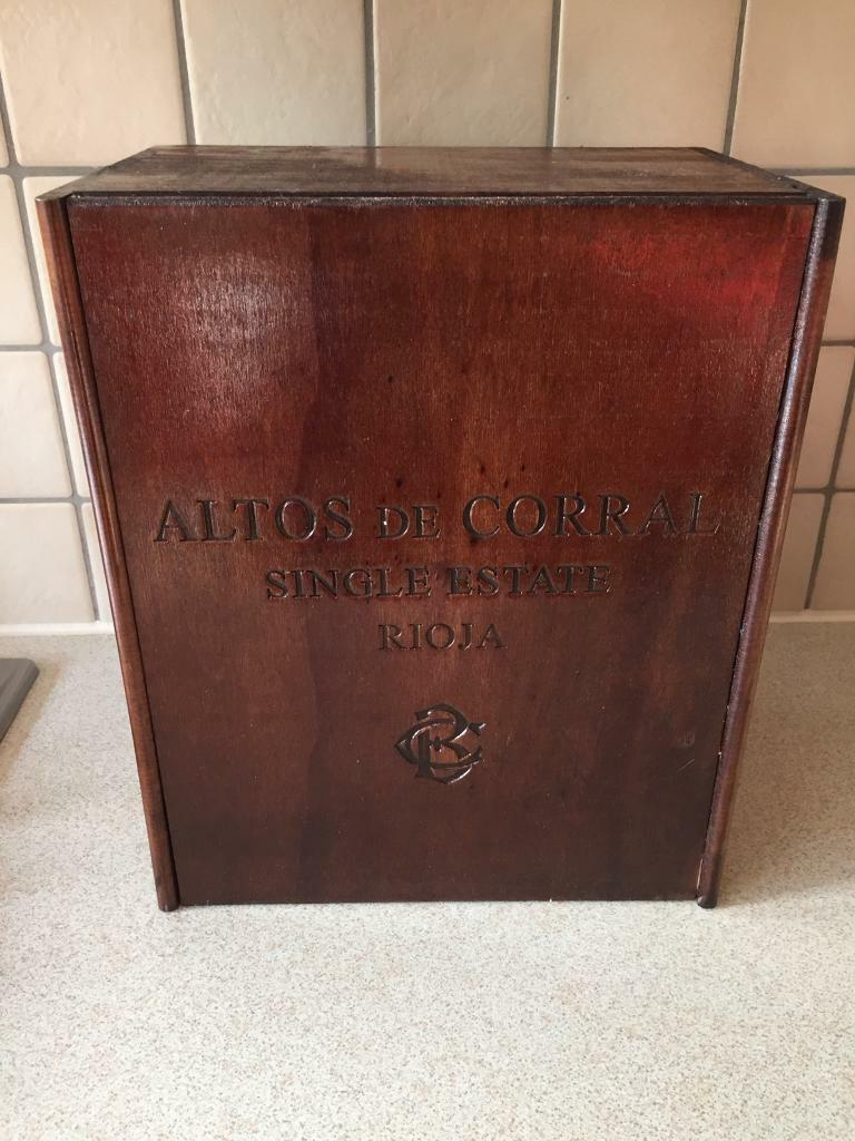 Wooden wine box shipping case feature upcycle
