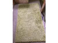 "Lime green thick fluffy rug 58""x33"""