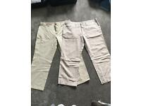 Chinos size 38, Hugo boss and Burberry
