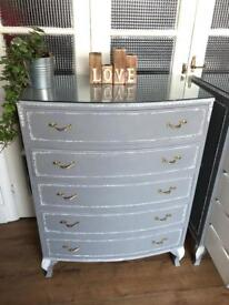 """French Chest Free Delivery Ldn🇬🇧Shabby Chic """"Grey Paris"""""""