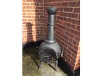 Large garden chimney with cover