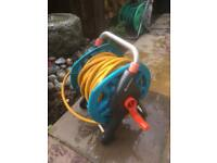 Garden hose and reel 20m