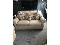 Cream 3&2 fabric sofas