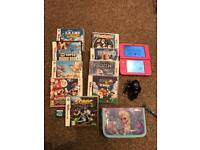 Pink Nintendo 3DSXL console and 10 games bundle