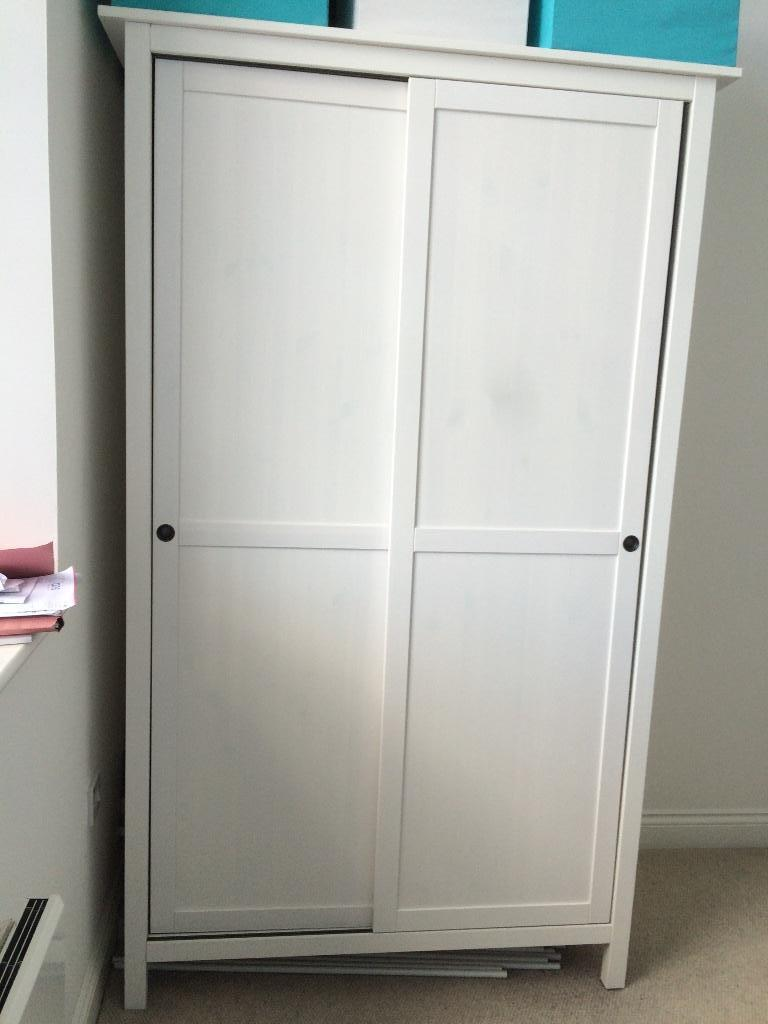 wardrobe white ikea hemnes 2 sliding doors in bishopston bristol gumtree. Black Bedroom Furniture Sets. Home Design Ideas