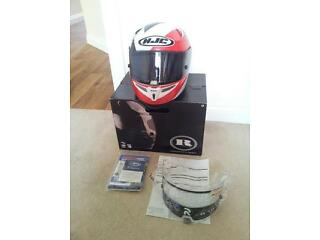 Hjc r-pha 10 helmet mint condition ancell red design. invoice, box, warranty (3 yrs left), 2 visors