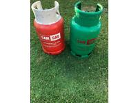 Two gas bottles