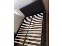 Leather effect double bed