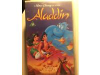 RARE Black Diamond Walt Disney Classic 1993 Alladin VHS Tape
