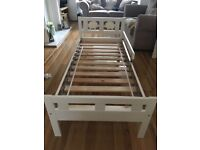 Ikea white toddlers bed