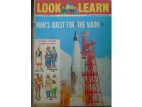 Look and Learn - vintage, topical education magazine - 1960s -Man's Quest for the Moon - quick sale