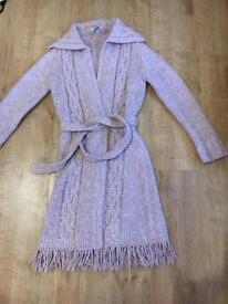 Blush pink long cardigan
