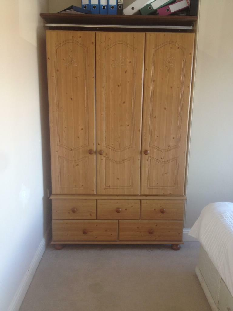 Wooden Wardrobe with drawers