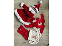Baby girl Christmas outfits 0-3 months