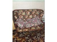 Two seater one chair one rocking chair cottage/conservatory suit excellent condition