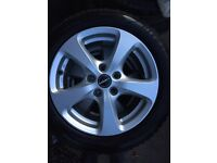 """Borbet 16"""" alloy wheels, 16"""", set of 4, with GoodYear Ultrgrip9 tyres"""