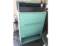 Large reto style turquoise filing cabinet