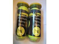 6 brand new tennis balls