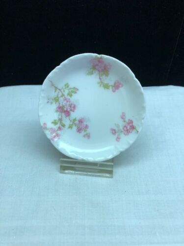Vintage Porcelain Haviland France Pink Floral Butter Pat