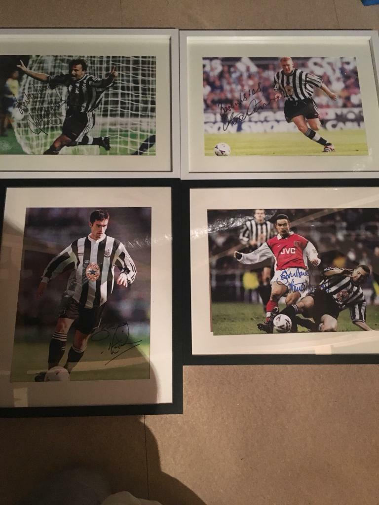 Signed NUFC player prints