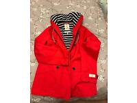 New Joules Red Rain Jacket
