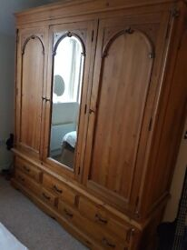 Solid Pine Wardrobes/Bed Side Tables. Excellent Condition.