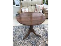 Antique oak tilt top table