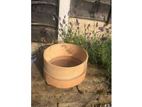 Hand made potting sieve