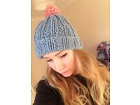 Beautiful handmade knitted beanie