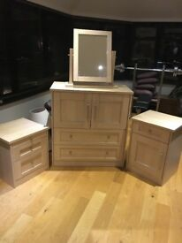 bedroom units x 3 Beech colour