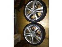 "Jaguar F-Type 2013+ - Cyclone Silver 20"" Alloy Wheel Set (4 pcs) with Pirelli P-Zero Tyres"