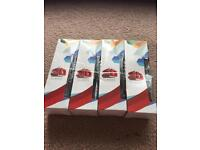 Four pairs of 3D glasses suitable for cinema or home use