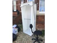 Free fabric wardrobe and office chair