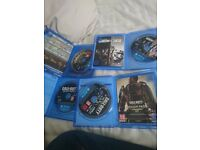 Ps4 games rainbow six siege, fallout4,cod advanced warfare and black ops 3