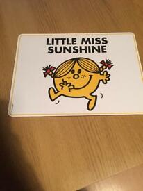 Little miss sunshine placemat *new*