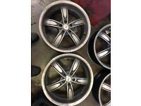 Bk racing alloy wheels . Vw, golf, audi etc