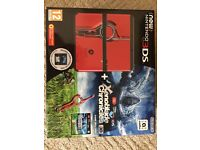 new 3ds xenoblade chronicles bundle- used with Pokemon sun