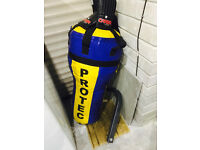 PROTEC Pro. Hanging Punch Bag & Carta Gloves Mitts Bracket Boxing Fitness Gym Training MMA Karate