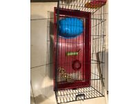 Guineapig cage and accessories