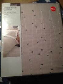 New single bedding set grey and sequins